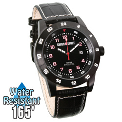 Swiss Spirit Sport Watch - Black  Model# 80009-9