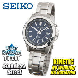 Seiko Kinetic Watch - Blue  Model# SKA539P1