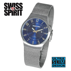 Swiss Spirit Blue Dial Watch  Model# 12178G