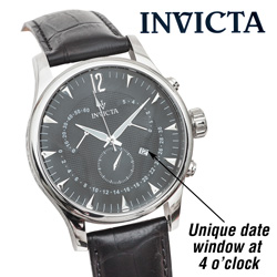 Invicta Vintage Chronograph Watch - Black  Model# 11235