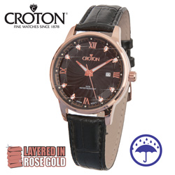 Croton Rose Gold Dress Watch  Model# CN307445RGBK
