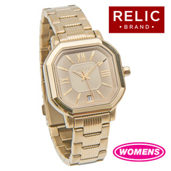 Relic Gold-Tone Watch  Model# ZR34178