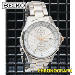 Seiko Two-Tone Chronograph Watch  Model# SNDE23