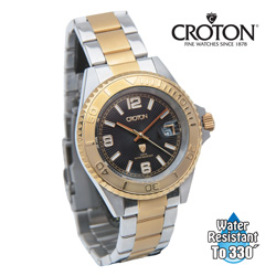 Croton Two-Tone Watch - Black  Model# CA301252TTBK