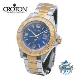 Croton Two-Tone Watch - Blue  Model# CA301252TTBL
