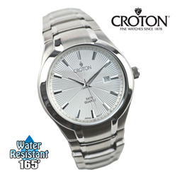 Croton Starburst Watch - Silver Dial  Model# CN307435SSSL