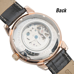 Croton Imperial Skeleton Watch  Model# CI331072BSRG