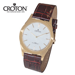 Croton Thin Gold Watch - White  Model# CN307464YLDW