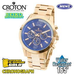 Croton Blue Dial Chronograph Watch  Model# CC311353YLBL