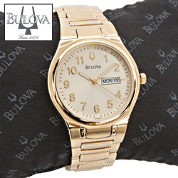 Bulova Gold Bracelet Watch  Model# 97C000