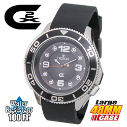 Croton CX2 Black Dial Watch  Model# CX328012BSBK