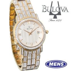 Bulova Swarovski Crystal Watch  Model# 98B009