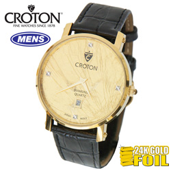 Croton Gold and Diamond Watch  Model# CN307491BSYG