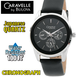 Caravelle By Bulova Chronograph Watch  Model# 43C109