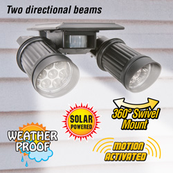 Solar Twin Spot Security Light  Model# 10110