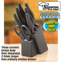 7 Piece Ceramic Knife Set with Block  Model# 80293