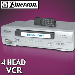 Emerson 4-Head VCR  Model# EWV404