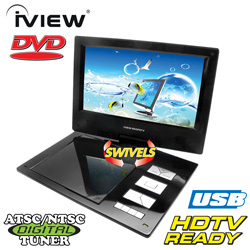 9 inch Portable DVD with ATSC Tuner  Model# IVIEW-950PDTV