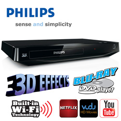 Philips Blu-Ray DVD Player with WiFi  Model# BDP2185/BDP2985