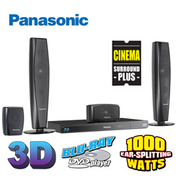 Panasonic 3D/Blu-Ray Home Theater System  Model# SC-BTT273