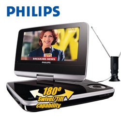 Philips 7inch Portable DVD with TV  Model# PET749/37