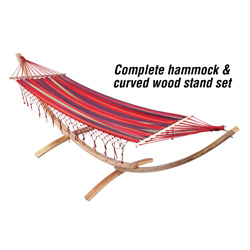 Hammock & Wood Stand  Model# SPHMK