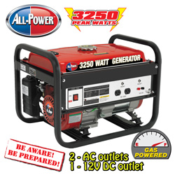 All Power 3250W Generator&nbsp;&nbsp;Model#&nbsp;APG-3012