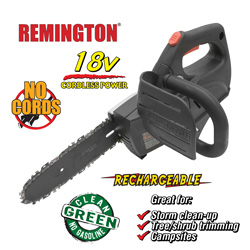 Remington 18V Cordless Chain Saw  Model# 41AZ10BG983