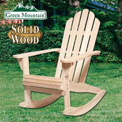 Natural Adirondack Rocking Chair&nbsp;&nbsp;Model#&nbsp;JC0804-1