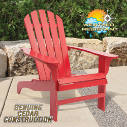 Cedar Adirondack Chair - Red  Model# CS-001KD-RD