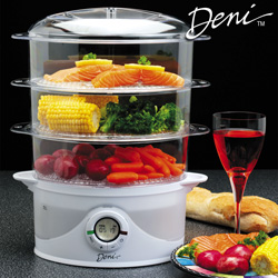 Deni 3-Tier Food Steamer&nbsp;&nbsp;Model#&nbsp;7550