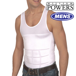 Mens Shape Shirt - White  Model# BL-T21