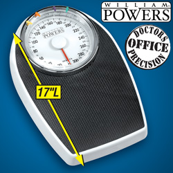 William Powers® Big Dial Bath Scale  Model# DT602C-1