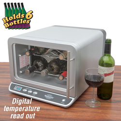Koolatron 6 Bottle Wine Cellar  Model# WC06G