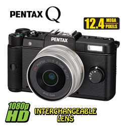 Pentax Q Digital Camera&nbsp;&nbsp;Model#&nbsp;85226-BLACK