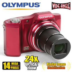 Olympus 14MP Digital Camera  Model# SZ14-RED-RB