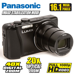 Panasonic 16.1 MP Digital Camera  Model# DMC-ZS25