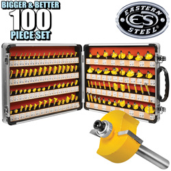 100 Piece Router Bit Set  Model# RC-100A