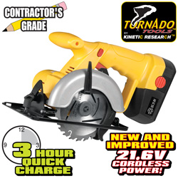 Tornado Tools 21.6V Cordless Circular Saw  Model# PLCY-01