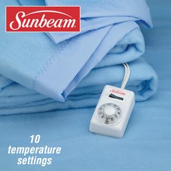 Sunbeam Twin Electric Blanket  Model# SEASHELL-TWIN