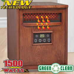 Premium Quartz Infrared Heater&nbsp;&nbsp;Model#&nbsp;FH1500WR