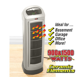 Ceramic Tower Heater&nbsp;&nbsp;Model#&nbsp;755320B