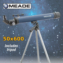 Meade 50x600 Refractor Telescope  Model# 04140-1