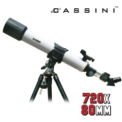 Cassini 720X80mm Telescope  Model# CQR-720