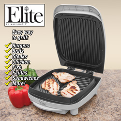 Elite Indoor Contact Grill  Model# EWG-350