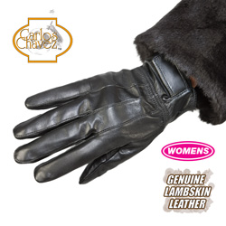 Lambskin Leather Gloves - Womens  Model# AX-11