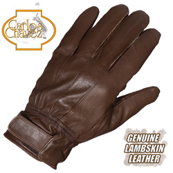 Mens Lambskin Gloves - Brown  Model# RAX10