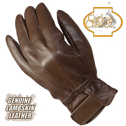 Womens Lambskin Gloves - Brown  Model# RAX11