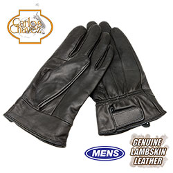 Mens Leather Insulated Gloves - Black - Size: Large 58050B