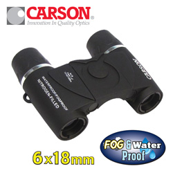 Carson 6X18 Waterproof Binoculars&nbsp;&nbsp;Model#&nbsp;WP-618